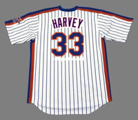 jerseys mets al por mayor-Barato Custom MATT HARVEY New York Mets 1986 majestuoso retroceso Home Baseball Jersey retro para hombre jerseys