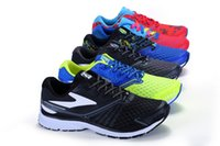Wholesale Summer Tops Usa - Top quality 1:1 USA top running shoes Brooks Fashion Designer Men's Shoes Running Sneakers for MENS LAUNCH Two shoe Eur 40-46