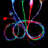 Circulant LED Visible Clignotant USB Chargeur Câble 1M 3FT Data Sync Colorful Light Up Cordon Plomb pour Samsung HTC Blackberry CAB204