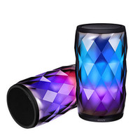 Wholesale Diamond Speaker - Brilliant Mood lamp Diamond Bluetooth speaker Soaiy S-75 Colorful Light Pluse Subwoofer with Mic & TF Card Slot Breathing Light Lamp Speaker