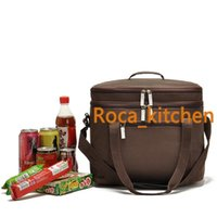 packed lunch - 18L Cooler Bag Bilayer Large Car ice pack upscale picnic cooler bag Lunch travel Insulated Tableware package