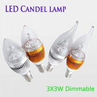 Silver / Golden Led Candles Bulbs lâmpada Lights Warm White / White High Bright E12 E14 E27 alumínio Led iluminação Dimmable CE ROHS 50pcs / lot