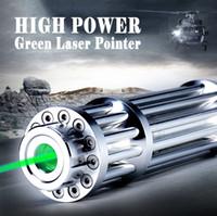 lazer kalem toptan satış-Ucuz Yüksek Kalite 532nm Yeşil Lazer Pointer torch ayarlanabilir odaklama maç lazer pointer kalem + 5 yıldız caps ücretsiz kargo