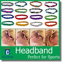 Wholesale Headbands For Womens - girls ladies softball sports headbands set baseball elastic nylon for girls braided mini non slip running womens hair bands