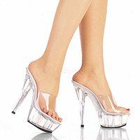 Wholesale High 15 Cm - MoWenWei 15 cm high performance shoes wedding party shoes with 15 cm crystal sandals