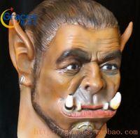 Wholesale Latex Cartoon Movies - enjoy Free shipping 2016 Movie Durotan Mask Adults full face Latex Mask Party Halloween cosplay Macka Halloween Carnival Party