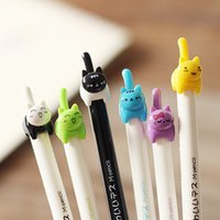 Wholesale kawaii pencil mechanical - Wholesale-6pcs 0.5mm Cute kitten tail mechanical pencil mascot student gift kawaii