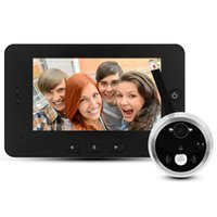 Digital 4.3 pouces TFT écran porte Bell Peephole Viewer Téléphone avec vision nocturne Peephole Viewer Support Auto-Photo Snapping