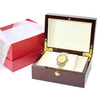 lüks hediye kutuları ambalaj toptan satış-watch box luxury wood watch box with pillow package case watch storage gift boxs glitter2008