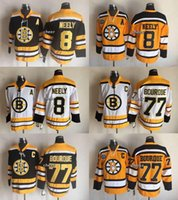 Wholesale Wholesale Drop Stops - 2016 New Wholesale Boston Bruins #8 neely #77 bouroue white Orange Black Throwback Jersey Top Quality Ice Hockey Jersrys Drop SHipping Cheap