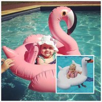 Wholesale Baby Buoy - Baby Inflatable Swan Flamingo toys Children swimming laps Sunnylife baby kids Water Sports Swimming Life Vest Buoy Sports Outdoors 385