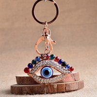Crystal Strass Shiny Evil Eyes Schlüsselanhänger Charming Eyes Key Favors Rucksack Geldbörse Anhänger Modische Schlüsselanhänger2016