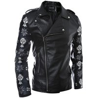 Wholesale Leather Clothes For Black Men - 2016 New clothing PU Faux Leather Jacket for Men Jaqueta Masculino Bomber Sheepskin Coat waterproof Motorcycle Jacket
