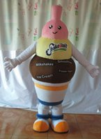 Wholesale Ice Mascot - SX0727 light and easy to wear a cute adult ice cream mascot costume for adult to wear