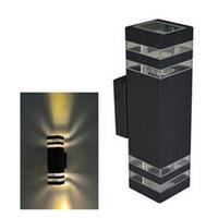 accesorios de pared de iluminación led al por mayor-1 unids 10 W Impermeable LED Luz de Pared Hall Porche Apliques Decoración accesorio exterior IP65 arriba y abajo Lámpara de pared lamparas LED lámpara AC85-265V