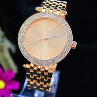 Wholesale Modern 19 - Fashion Luxury Quartz Casual Watch Double Row Luxury Crystal Diamond Modern Stylish Major Suit Women's Watch factory wholesale Free Shipping