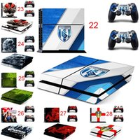 Atacado Mix Hot PS4 Sticker Vinly Skin 2 skins de controlador Decal Stickers for PS4 System Playstation 4 Console Free Shipping