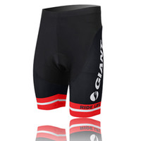 Wholesale New Giant Team Black Red D Padded Cycling Shorts Men s Bicycle Cycling Underwear Cycling Clothing Bottom Breathable Quick Dry