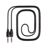 nouilles usb cable iphone achat en gros de-Nouvelle Arrivée 3.5 mm Jack À 3.5 mm Pin Stéréo Câble Audio De Voiture Noir Couleur 100cm Longueur En Gros 100Pcs
