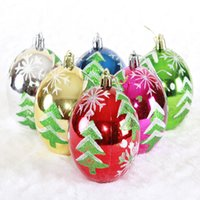 Wholesale Solid Color Plastic Beads - 8cm Christmas Ball Bright Gloss Finished Balls With Multi Color Plastic Bead For Christmas Decoration Wedding Party P.C : 95-1033