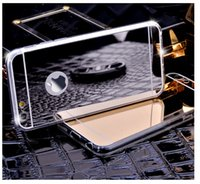 Wholesale S4 Case Chrome - For iphone 6 6 plus 5S Mirror Electroplating Chrome Ultrathin Soft TPU Phone Case Cover For Samsung Galaxy S4 S5 S6 S6 edge note 2 3 4