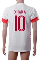 Wholesale Wholesale Switzerland - Thai Quality Customized European Cup 2016 national team Switzerland home 10 XHAKA Football Jerseys Tops,16 FERNANDES 18 MEHMEDI Soccer WEAR