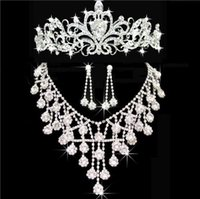 Wholesale wholesale cheap evening dresses - Tiaras Crowns Wedding Hair Jewelry neceklace,earring Cheap Wholesale Fashion Girls Evening Prom Party Dresses Accessories HT01