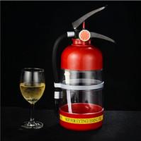 Wholesale Plastic Mini Buckets - 2017 DIY creative Beer machine wine hand fire extinguisher 2 L capacity Mini water dispenser beverage bucket Party bar Hip Flasks wholesale