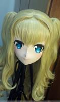 crossdresser japonés al por mayor-(C2-072) Máscara japonesa de goma de silicona para mujer KIG de calidad superior Cosplay Kigurumi Máscaras Crossdresser Doll Japanese Anime Juego de roles