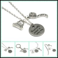 Wholesale Stainless Steel Tape Measures - 12pcs lot Practically Perfect in every way necklace bracelet keyring bookmark Perfect with bag and tape measure necklace