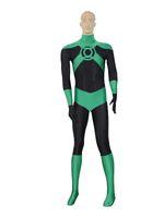 Wholesale Green Lantern Zentai - Deep Green Lantern Costume Superhero Halloween Party Cosplay Zentai Suit