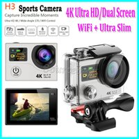 Dual Screen Ultra HD 4k H3 WIFI Action Cameras 1080P 170 Lens 2