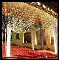 Wholesale led waterfall christmas lights - 6m x 3m Led Waterfall Outdoor Fairy String light Christmas Wedding Party Holiday Garden 600 LED Curtain Lights Decoration EU.US.uk au .plug