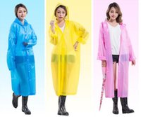 Mulheres EVA Transparente Raincoat Poncho Portátil Waterproof Raincoat Long Use Rain Coat Hogard