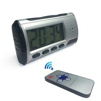 Wholesale Digital Spy Alarm Clock - Spy Hidden Camera Clock HD 1280*960 Digital Alarm Clock Motion Detector Sound Recorder Digital Video Cam With Remote Control For Security