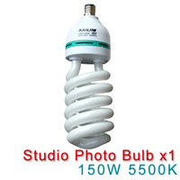 Wholesale Photography Equipment Pro E27 V W K Video Bulb Photo Studio Light Energy saving lamp