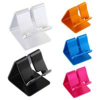 iphone tischhalterung großhandel-Universal tragbare Aluminiumlegierung Handyhalter Bett Schreibtisch Tischhalter für iPhone Huawei Xiaomi Tablet Mount Stand