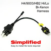 Wholesale Bi Xenon Relay - LEEWA Simplified H4 9003 HB2 Hi Lo Bi-Xenon HID Bulbs Relay Harness Wiring Controller #4514