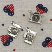 51pcs Charms camera 20 * 16mm Antique Silver / Bronze Pendant Zinc Alloy Jewelry DIY Hand Made Bracelet Necklace Fitting