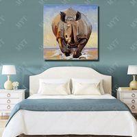 pintando animal selvagem venda por atacado-Feitas à mão selvagem animal pintura a óleo arte da parede decorativa sala de estar parede pictures animal pintura a óleo sobre tela