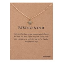 30PCS Rising Star Chain Collier Wish Card Five Pointed Star Pentangle Pendentif Collier Pendentif Collier Cadeau