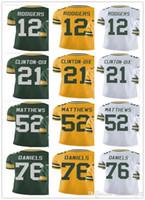 Wholesale Packers Green - Green Bays jersey Packer Men's #52 Clay Matthews 12 Aaron Rodgers 76 Mike Daniels 21 Ha Ha Clinton-Dix Vapor#Untouchable Limited Jersey