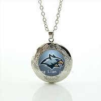 Wholesale Eagles Jewelry - Trendy animal symbol locket necklace Philadelphia Eagles team Newest mix 32 sport team jewelry gift for men and boys NF027