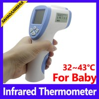 Wholesale Medical Infrared Thermometers - Wholesale 172x88x43 size easy to swith C and F unit infrared baby medical digital thermometer 12 PCS