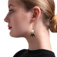 Wholesale Dangling Earrings 24k - Bohemian Long Earring New Design Balance Statement Jewelry 24k Gold Tassel Pearl Earring Dangle & Chandelier Women's Earring Beautiful