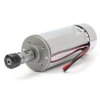 12v hochgeschwindigkeitsmotoren großhandel-Luftgekühlter Spindelmotor mit 400W Hochgeschwindigkeitsgravur, der DC 12V-48V 12000rpm mahlt