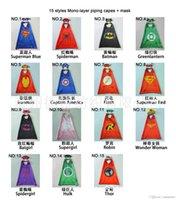 Wholesale Children Costumes Wholesale China - china Superhero cape &MASK 50-70cm back Super Hero Costume for Children Halloween Party Costumes for Kids Children's Costume NEW HERO A