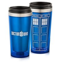 Wholesale Coffee Box Packaging - Doctor Who Travel Mug 16OZ Stainless Steel Cups Blue Water Bottles Coffee Cup Wholesale Kettle with Gift Boxes Package