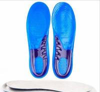Wholesale Orthopedic Silicone Insole - Silicone Gel Insoles Man Women Insoles Orthopedic Massaging Shoe Inserts Shock Absorption Shoepad High Quality YYA121