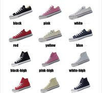Wholesale new Factory promotional price canvas shoes women and men high Low Style Classic Canvas Shoes Sneakers Canvas Shoe